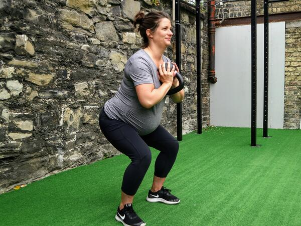 Pregnancy Goblet Squat FFS Gyms